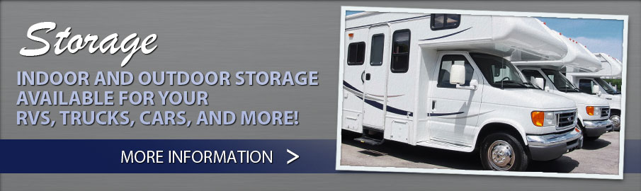 Indoor & outdoor storage available