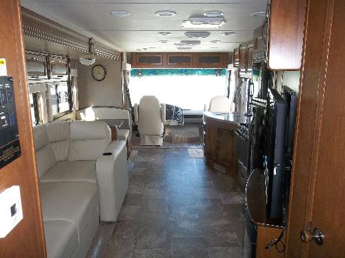 rear to front view of sitting area in the Mirada 36 foot